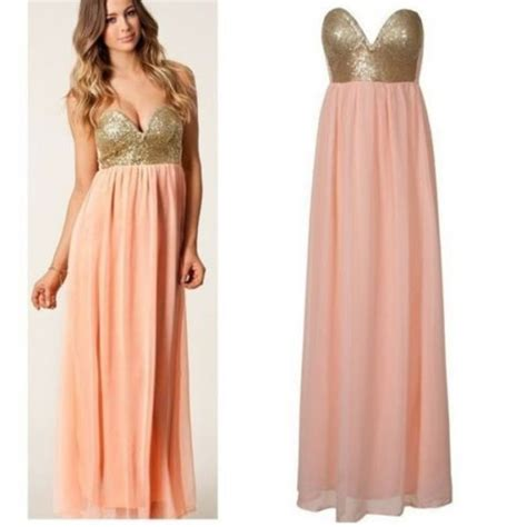 Hq 9203 Pink Pleated Dress Size L Two Color Pleated Maxi Sequin Bustier Dress Bnwt