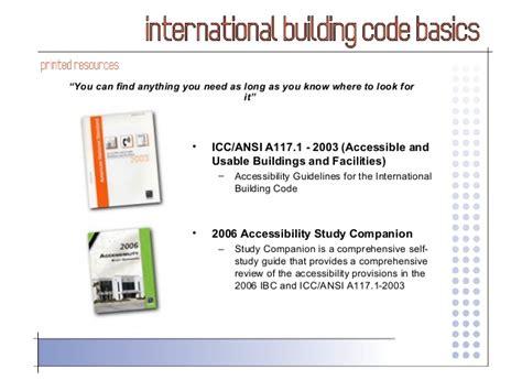 international building code international building code 2006 basics