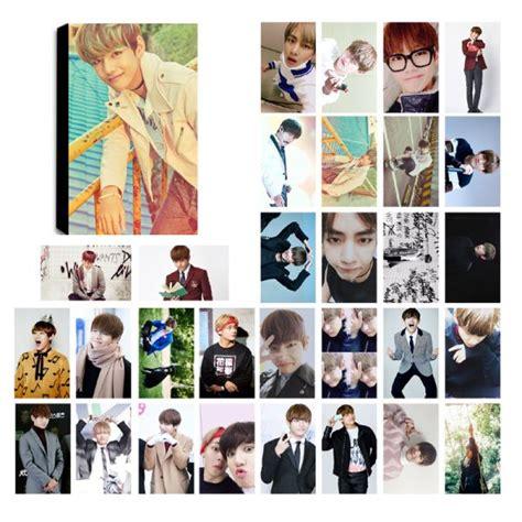 Photo Card Member Bts bts taehyung v lomo photocard set kpop mall usa