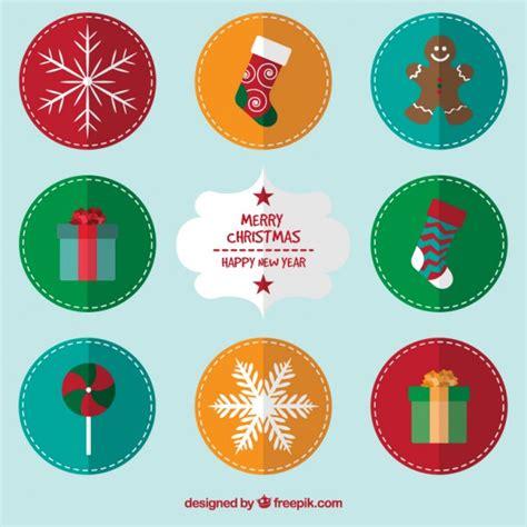 imagenes navidad redondas etiquetas redondas de navidad descargar vectores gratis