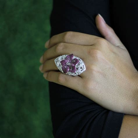wendy yue pink and white sapphire ring in pink lyst