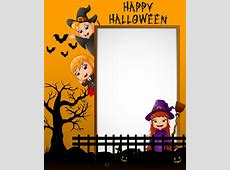 Cute kids with halloween blank background vector 09 free ... About:blank Free Halloween Clipart