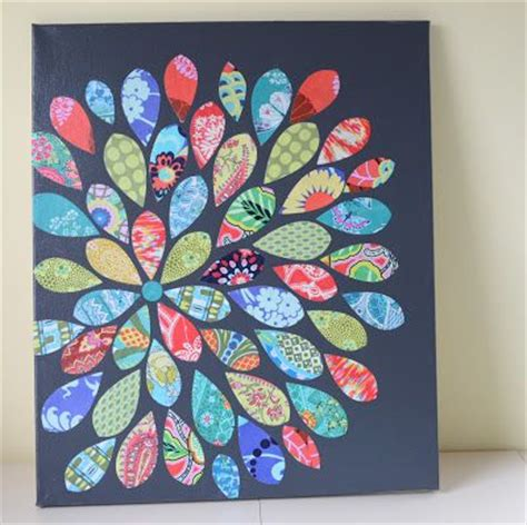Decoupage Fabric On Canvas - modge podge fabric onto board crafty ideas