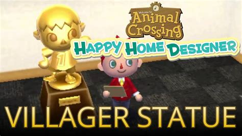 happy home designer villager furniture unlocking the villager statue with villager amiibo in
