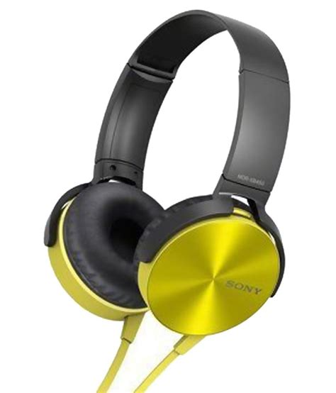 Headphone Sony Mdr Xb450 Buy Sony Mdr Xb450 On Ear Wired Headphone With Mic Yellow