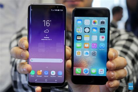 iphone vs samsung samsung galaxy s8 vs apple iphone 7 best of the best phonearena reviews