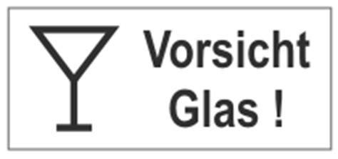 Achtung Zerbrechlich Aufkleber Post by Warnetiketten Vorsicht Glas Mit Grafik Wei 223 Matt
