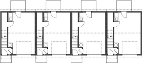 4 plex apartment floor plans 4 plex plan townhouse plan 4 unit apartment quadplex f 539