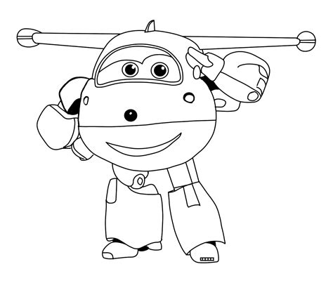 Super Wings The Plane Jett Salutes The Jet Plane Coloring Pages