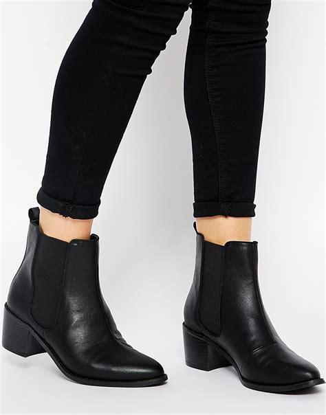 asos roar chelsea ankle boots in black lyst