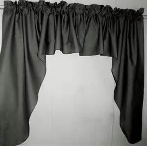black window valances black swag window valance set