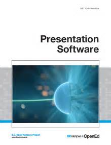 presentation software the open textbook project provides
