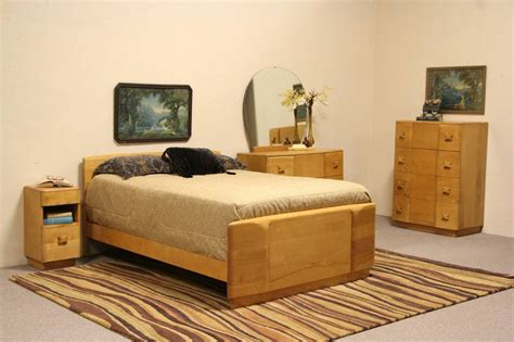midcentury modern birch  pc full size  vintage bedroom set ebay