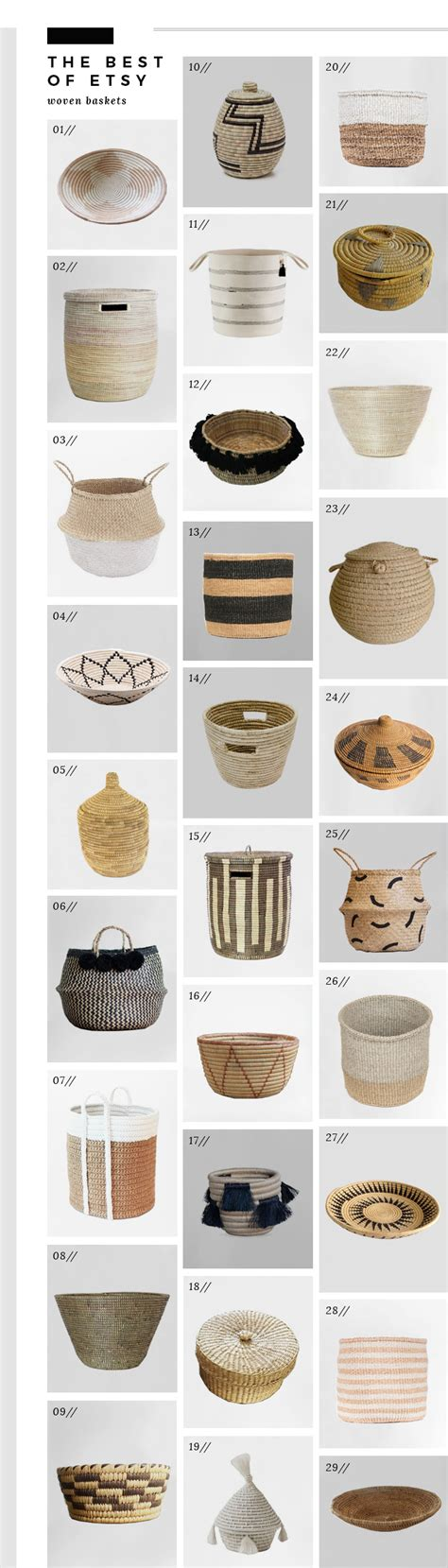best etsy best of etsy woven baskets room for tuesday