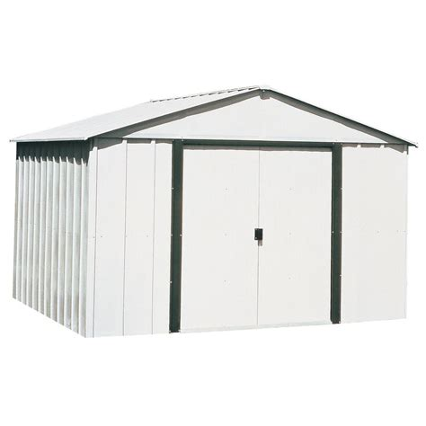 10 x 12 shed with floor arrow arlington 10 ft x 12 ft steel storage shed with