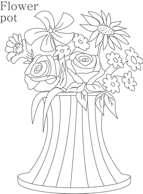 coloring pages of flowers in a pot flower page printable coloring sheets flower pot