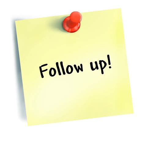 Follow Top by The Right Way To Follow Up A Our Top Tips