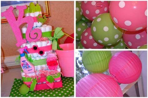 themes girl baby shower colorful baby shower theme and ideas for a girl baby