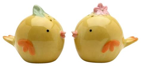 yellow salt and pepper shakers and mills houzz 2 25 inch yellow and orange baby salt and pepper