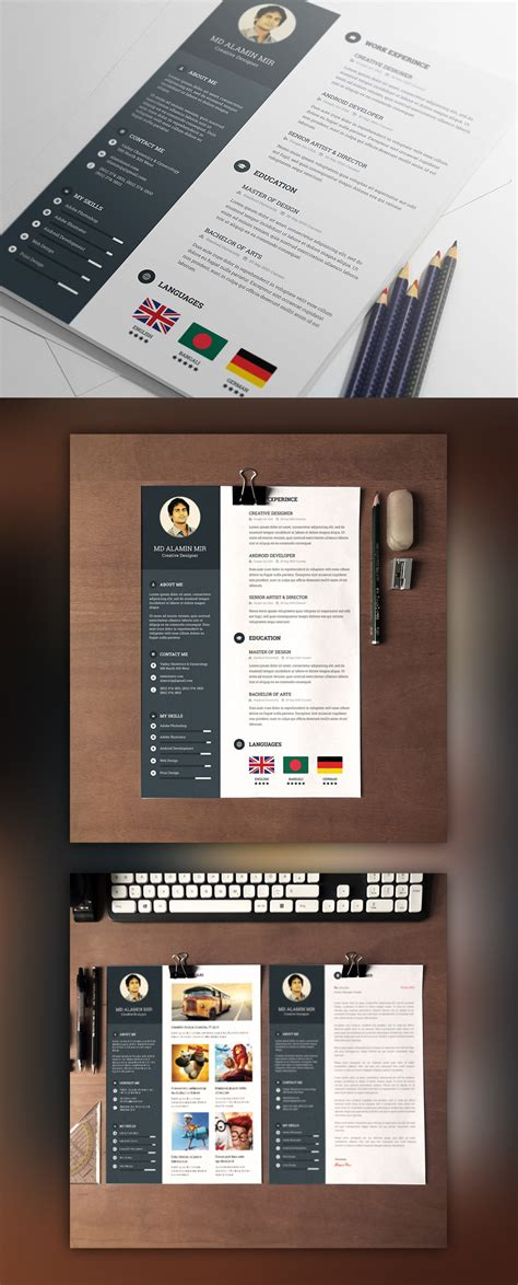 resume cover letter templates free designer resume template with cover letter free psd