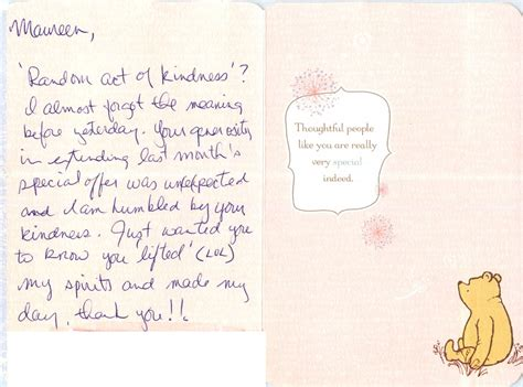 Thank You Letter Kindness patients perspective cards