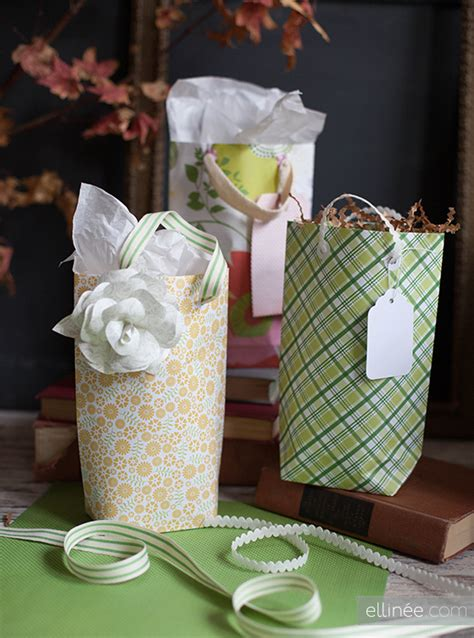 Gift Bags From Scrapbook Paper - remodelaholic 25 upcycled and low cost gift wrapping ideas