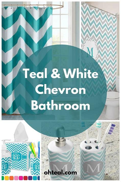 teal  white chevron bathroom chevron bathroom teal