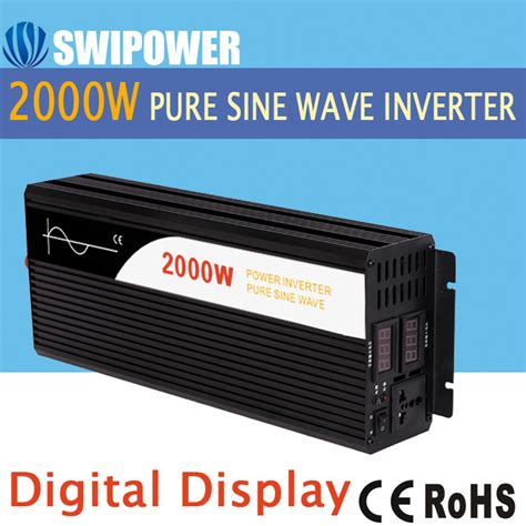 Power Inverter Sine Wafe Kaller 24v 2000w 2000w sine wave solar power inverter dc 12v 24v 48v to ac 110v 220v digital display