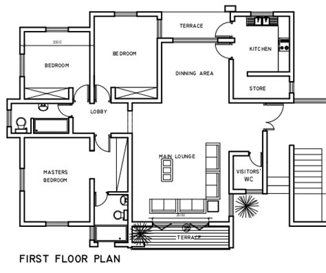 3 bedroom flat plan drawing 3 bedroom flats our smart cities