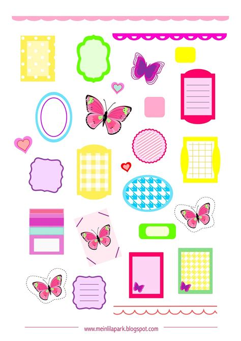 printable planners stickers free printable planner stickers butterfly ausdruckbare