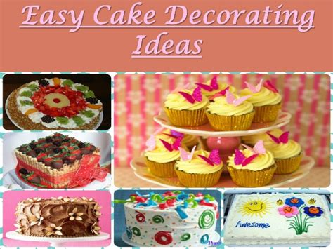 Learn To Decorate Cakes At Home by Easy Cake Decorating Ideas Learn How To Decorate