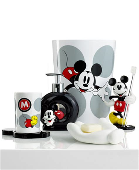 Mickey Mouse Bathroom Sets Disney Bath Accessories Disney Mickey Mouse Collection Bathroom Accessories Bed Bath Macy S