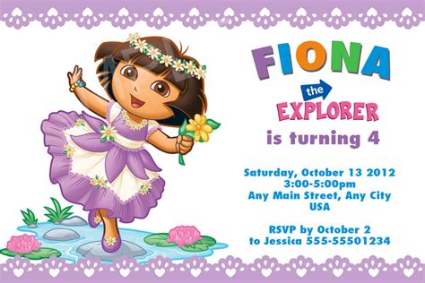 printable invitations dora the explorer dora explorer birthday invitations ideas bagvania free