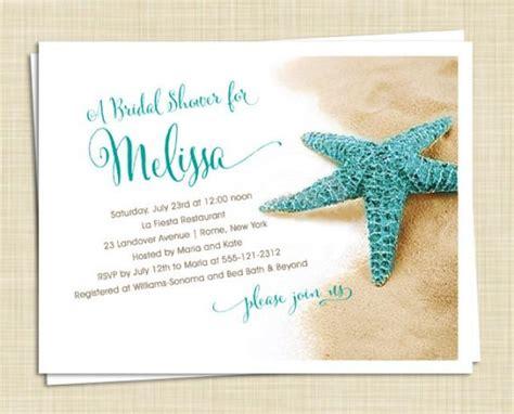 Bridal Shower Island by 20 Bridal Shower Invitations Starfish On Island