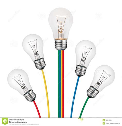 different ideas different ideas lightbulb concept isolated royalty free