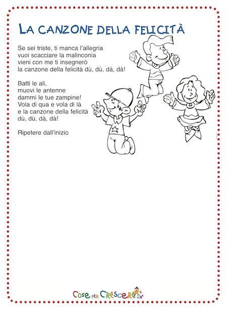la canzone della felicit 224 e testo canzone per bambini