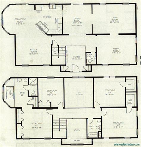 two story house floor plan 15 planos de casas peque 241 as de dos pisos planos y