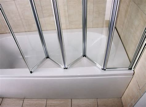 folding bathtub shower doors 1 2 3 4 5 folds folding chrome bath shower screen bathroom