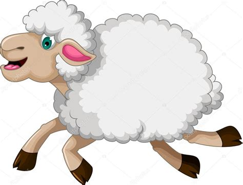 imagenes animadas de ovejas dibujos animados de ovejas divertidas corriendo vector
