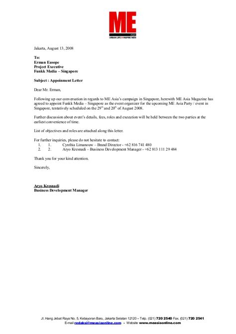appointment letter sle in singapore appointment letter funkk media
