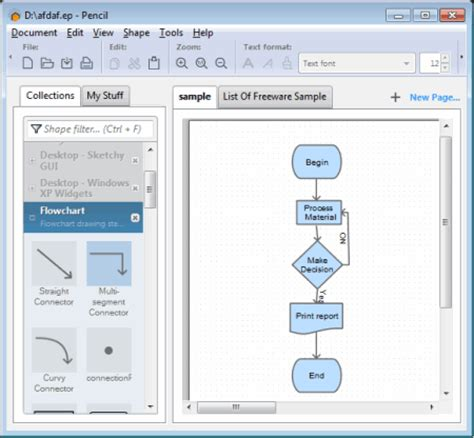 pencil flowchart 10 best free flowchart software for windows