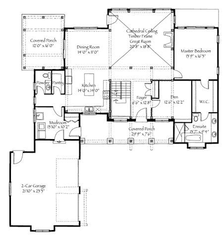 timberframe floor plans 2947sq ft 3 bed loft bunk room timber frame house plans