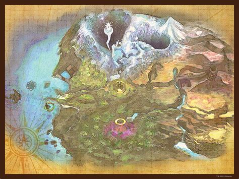 legend of zelda map puzzle the legend of zelda majora s mask termina map jigsaw