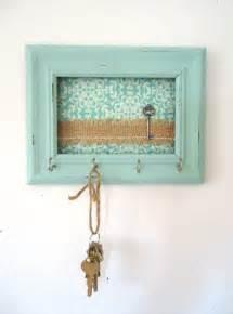 Key Home Decor Key Holder Wall Hook Shabby Chic Frame Home Decor