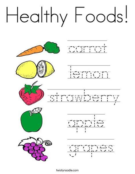 Healthy Snacks Worksheet by 64 Best Food Mini Books Coloring Pages And Worksheets