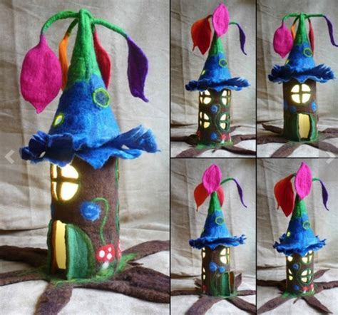 How To Make Paper Fairies - diy fantastic paper roll house beesdiy