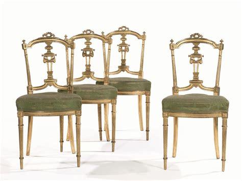 sedie stile luigi xvi quattro sedie in stile luigi xvi sec xix in legno