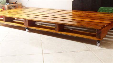 wooden pallet bed on wheels pallet furniture diy