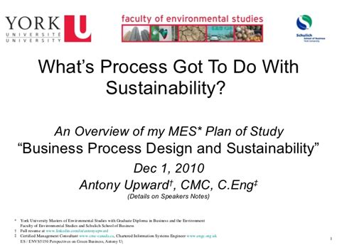 design for environment slideshare business process design sustainability a masters of