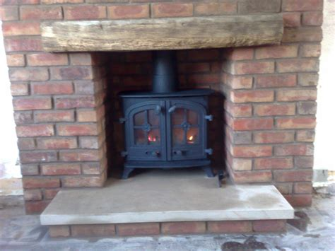 Brick Fireplaces For Wood Burning Stoves by Stove Woodburning And Dining Rooms On